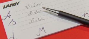 Produkt Schrift Lamy Kopierladen Werne